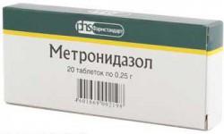 Метронидазол, табл. 250 мг №20